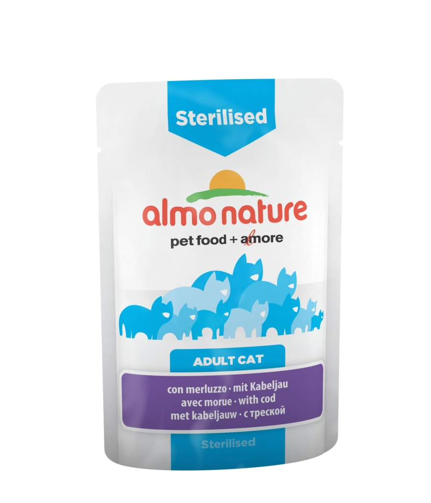 Almo Nature Functional WET - Sterilised Treska 70g výhodné balení 30ks