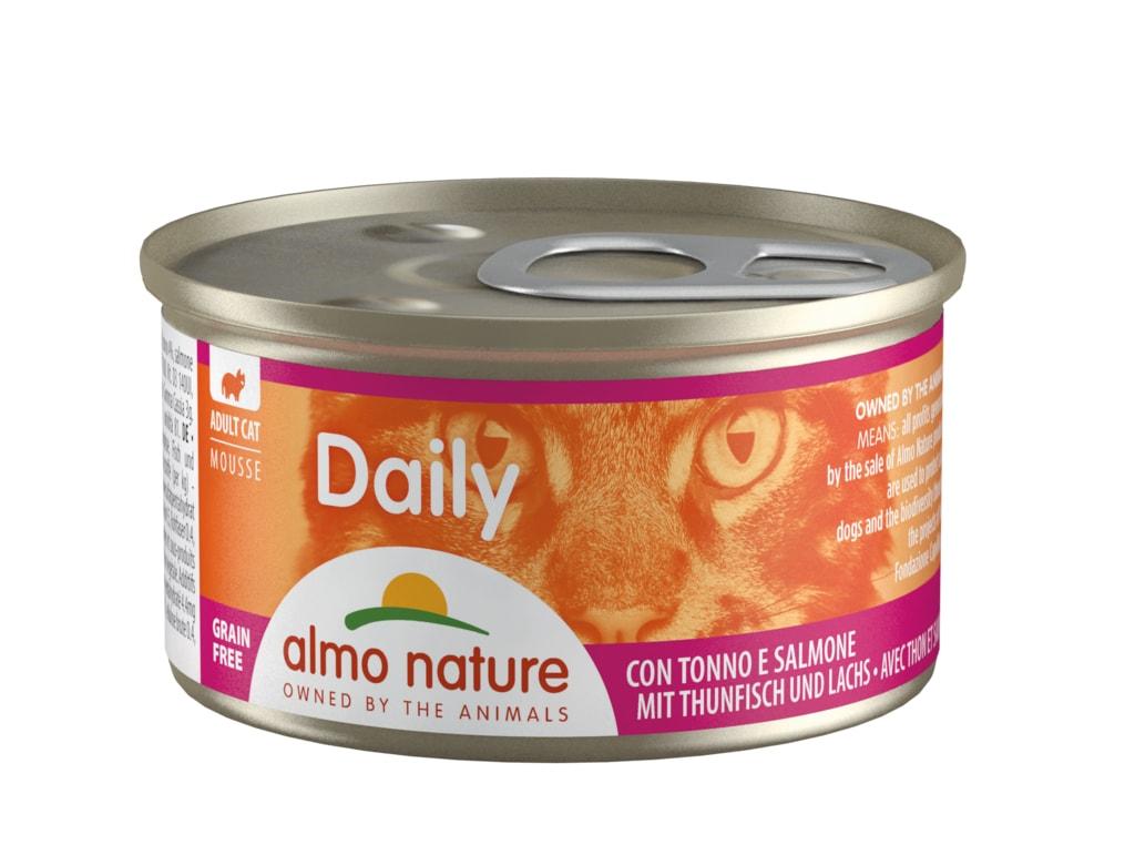 Almo Nature Daily Pěna s tuňákem a lososem 85g
