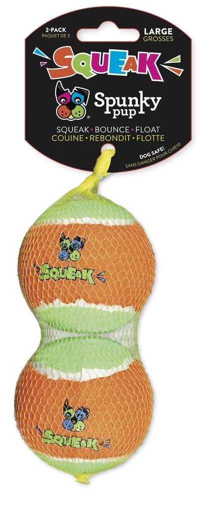 Pískací tenisový míček 2ks Spunky Pup 7,5cm