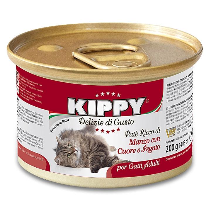 KIPPY cat paté s hovězím, játry a srdcem 200 g