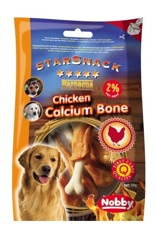 Nobby StarSnack Chicken Calcium Bone kalciová kost s kuřetem 70g