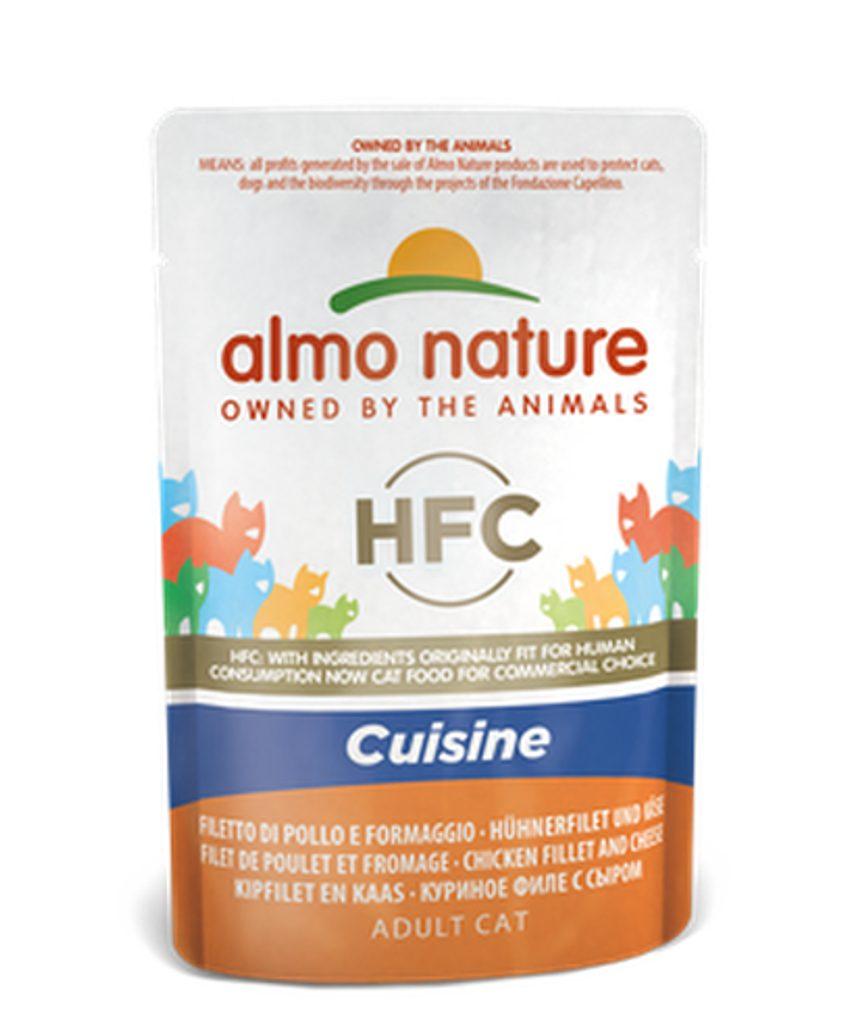 Almo Nature HFC Cuisine WET CAT - Kuřecí filet a sýr 55g