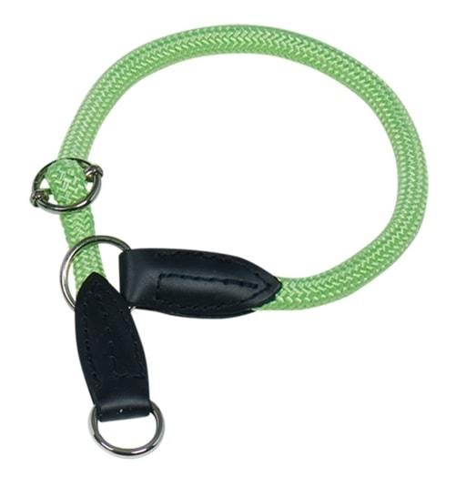 Nobby FUN Royal Neon kulatý polostahovací obojek M-L 60cm neon zelená