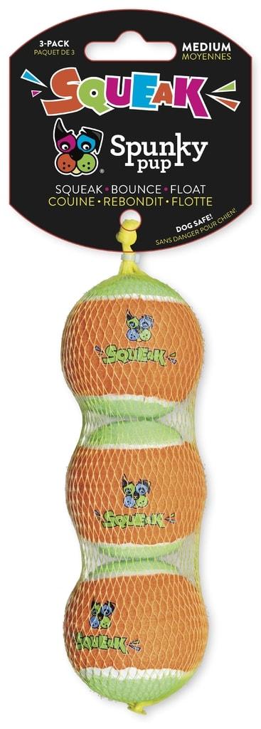 Pískací tenisový míček 3ks Spunky Pup 5,5cm