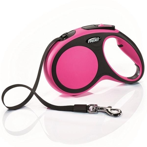 Flexi New Comfort M vodítko pásek 5m/25kg růžová