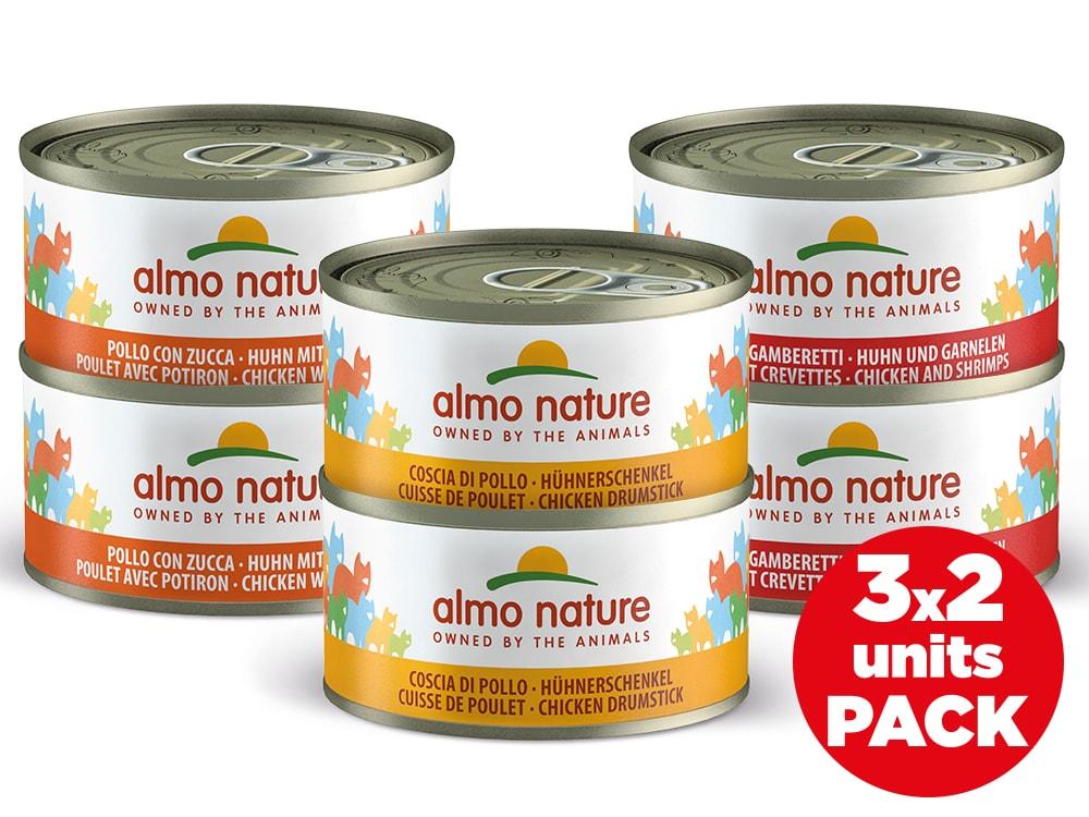 Almo Nature HFC Cats - Multipack s kuřetem 6x70g