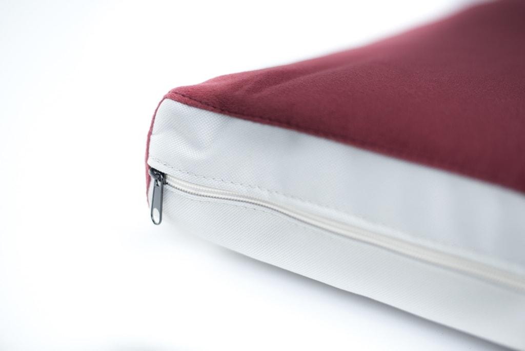 Matrace Aminela - 80x60x10cm Half and Half červená/světle šedá