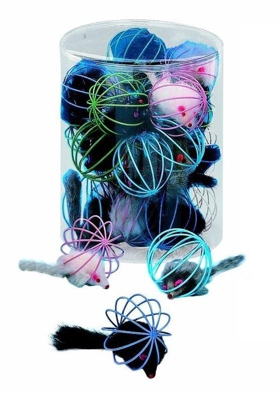 Nobby Toy Box Cat mřížka s myší 1ks