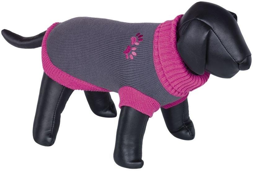 Nobby PAW svetr pro psy s tlapkou růžová 32cm