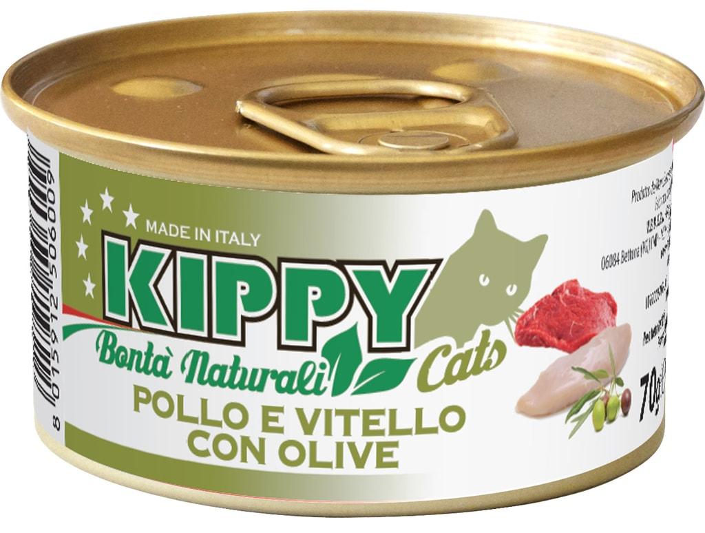 KIPPY Naturali kuřecí a telecí s olivami 70g