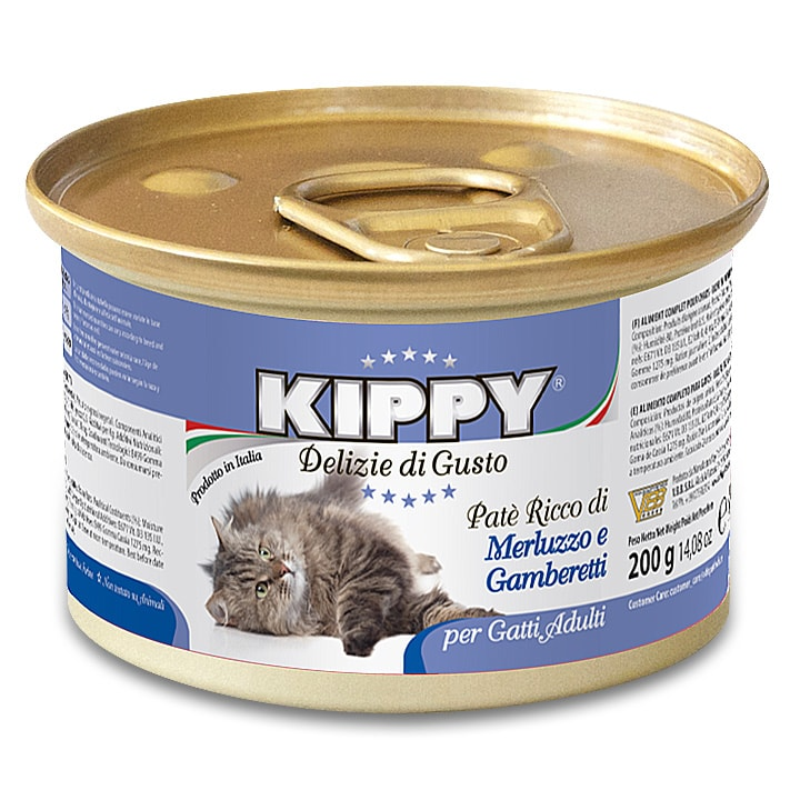 KIPPY cat paté s treskou a krevetami 200 g