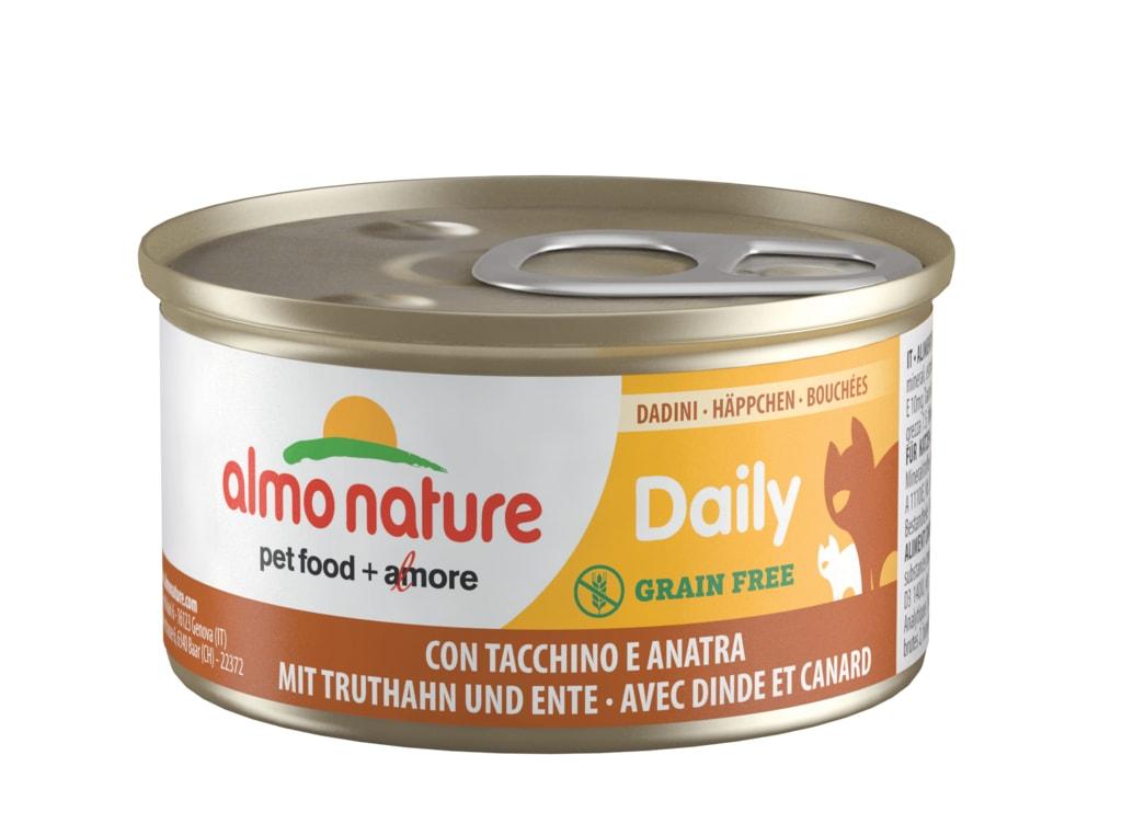 24x Almo Nature Daily Menu WET CAT - Kousky s krůtou a kachnou 85g výhodné balení