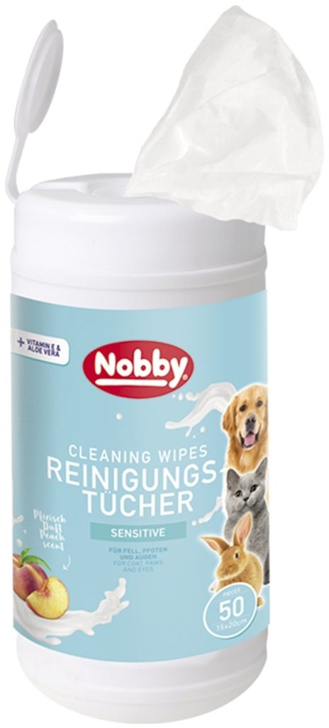 Nobby vlhčené ubrousky pro psy a kočky tuba 50ks