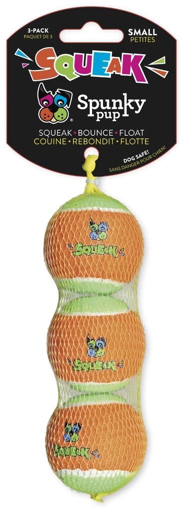 Pískací tenisový míček 3ks Spunky Pup 5cm