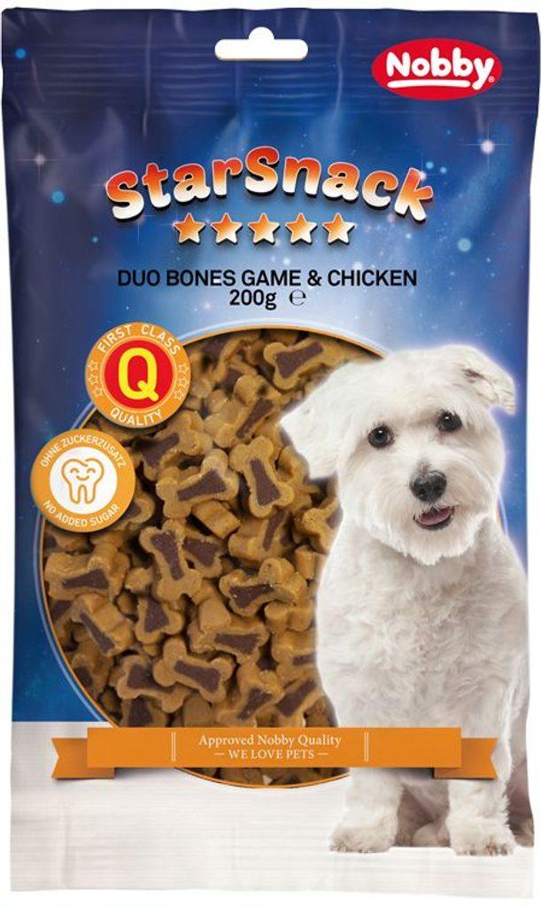 Nobby StarSnack Duo Bones pamlsek pro psy zvěřina+kuře 200g