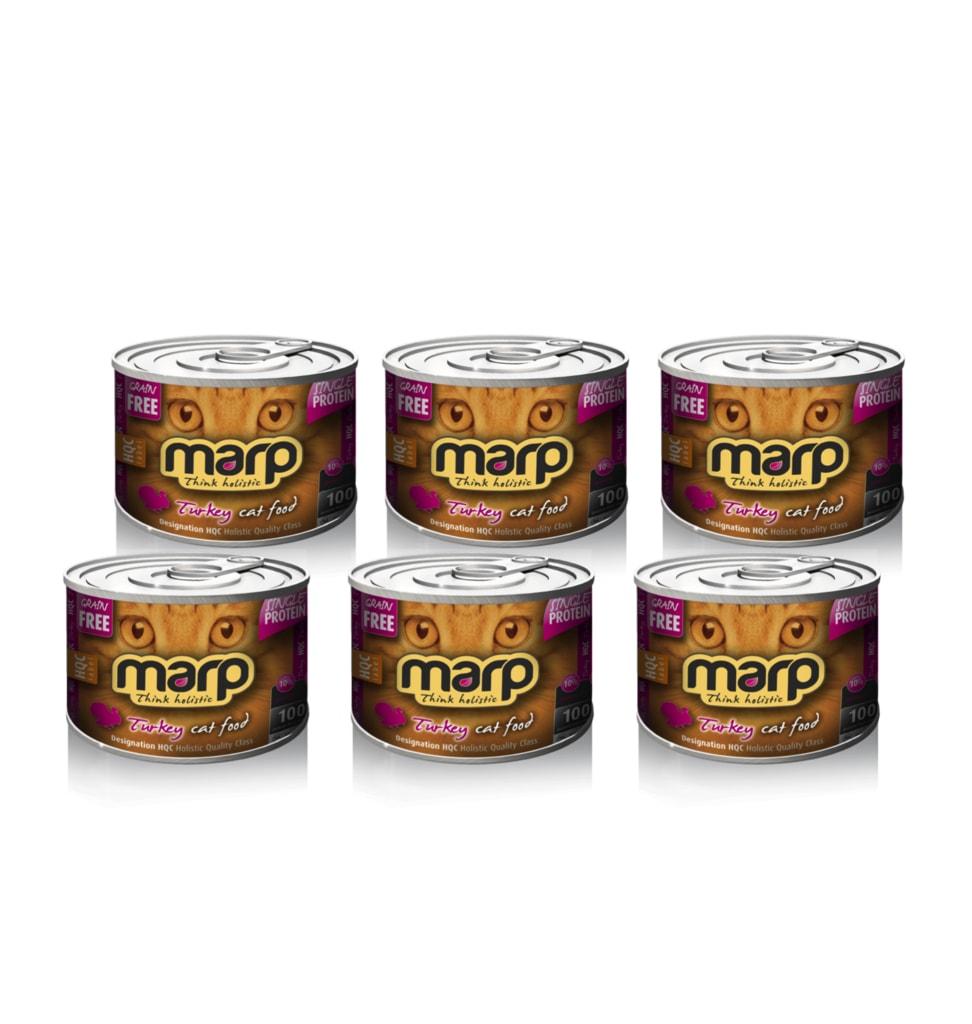 Marp Turkey konzerva pro kočky s krůtou 6x200g