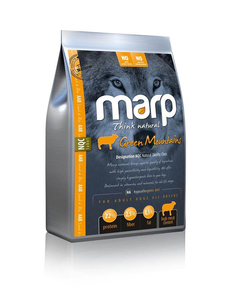 Marp Natural Green Mountains - jehněčí 4kg v zásobníku