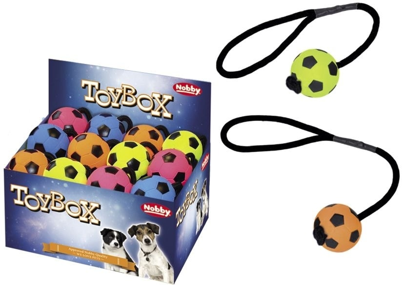 Nobby mechová guma míč s lanem 5,7cm 1ks