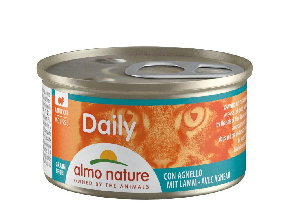 24x Almo Nature Daily Pěna s jehněčím 85g výhodné balení