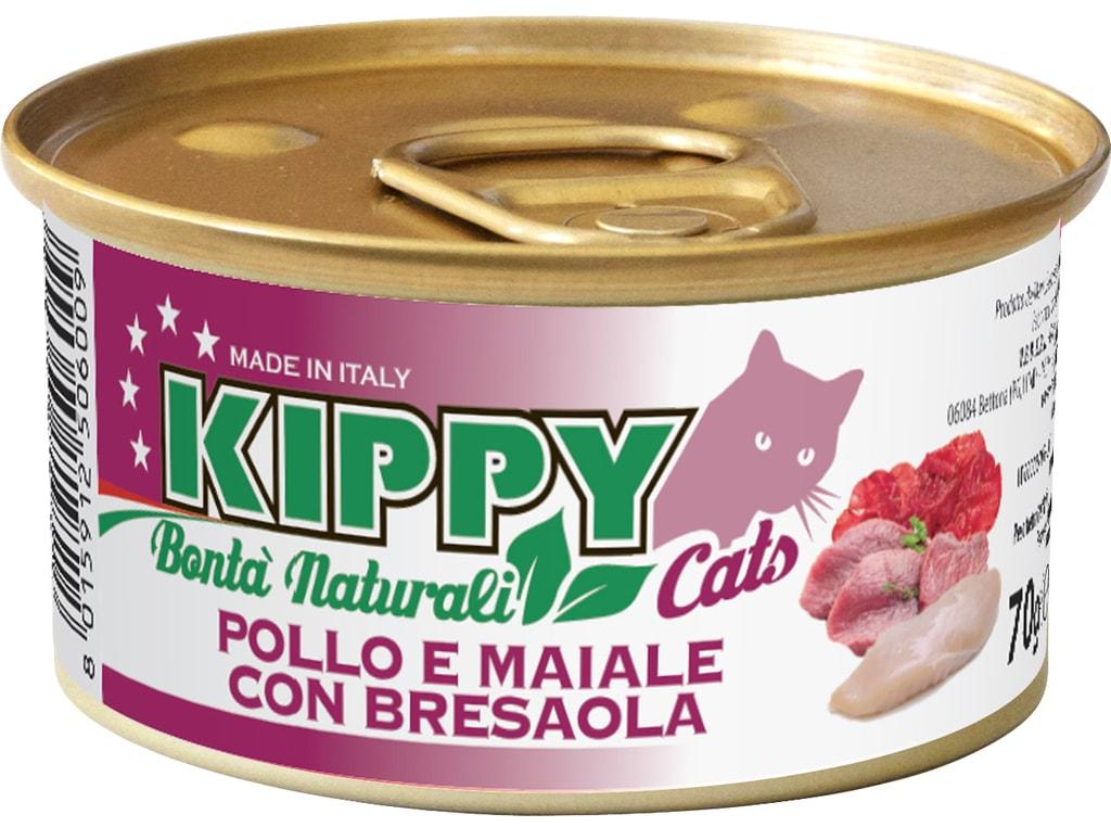 KIPPY Naturali kuřecí, vepřové a šunka 70g