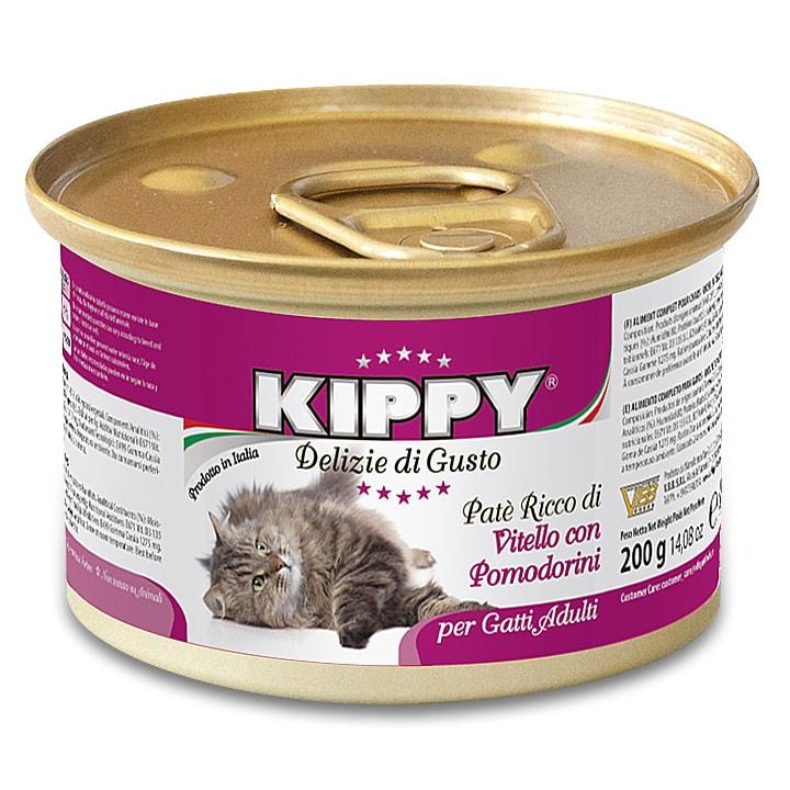 KIPPY cat paté s telecím a cherry rajčátky 200 g