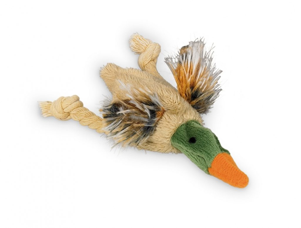 Nobby plyšová kachna s šustivým tělem 10 cm