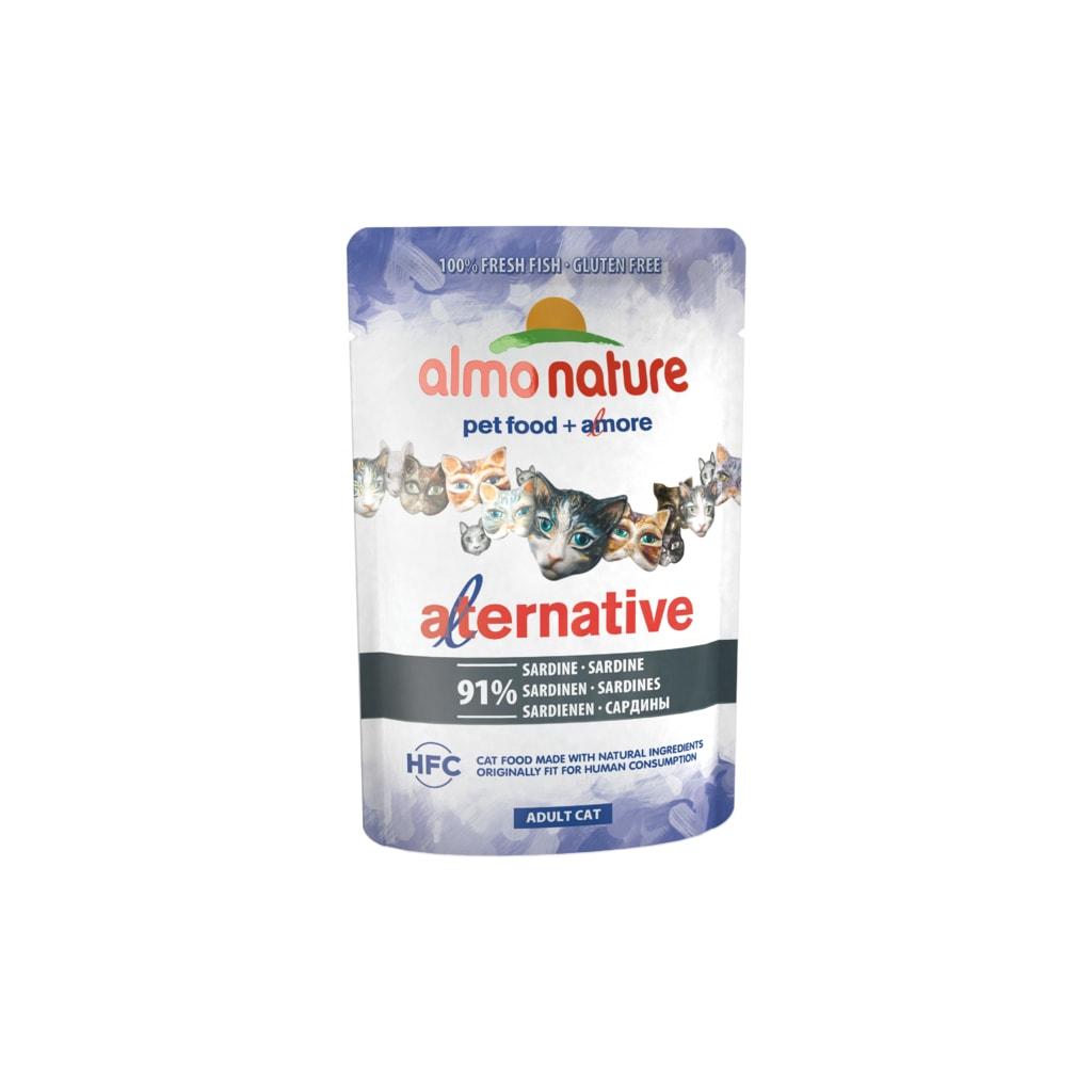 24x Almo Nature Alternative WET CAT - Sardinky 55g výhodné balení