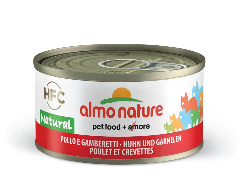 Almo Nature HFC WET CAT- Kuře a krevety 70g výhodné balení 24ks