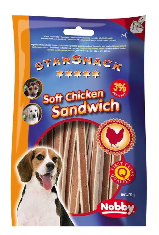 Nobby StarSnack Soft Chicken Sandwich pamlsky kuře+ryba 375g