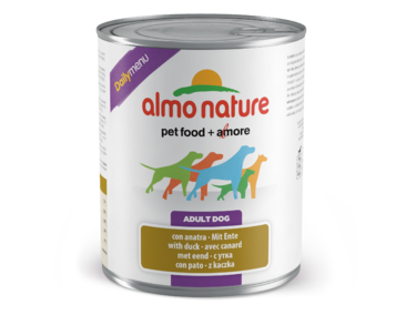 ALMO NATURE DAILY MENU WET DOG - S KACHNOU 800G VÝPRODEJ