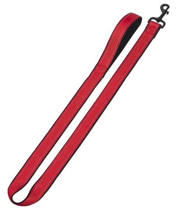 Nobby Classic Reflect Soft vodítko - červené 120cm/20-25mm