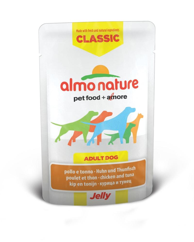 Almo Nature HFC Jelly WET DOG - Kuře a tuňák v želé 70g