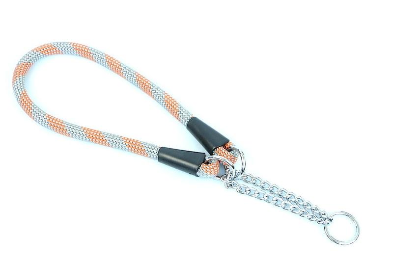 Aminela obojek lano - Serie G, velikost 14x60, šedá/oranžová