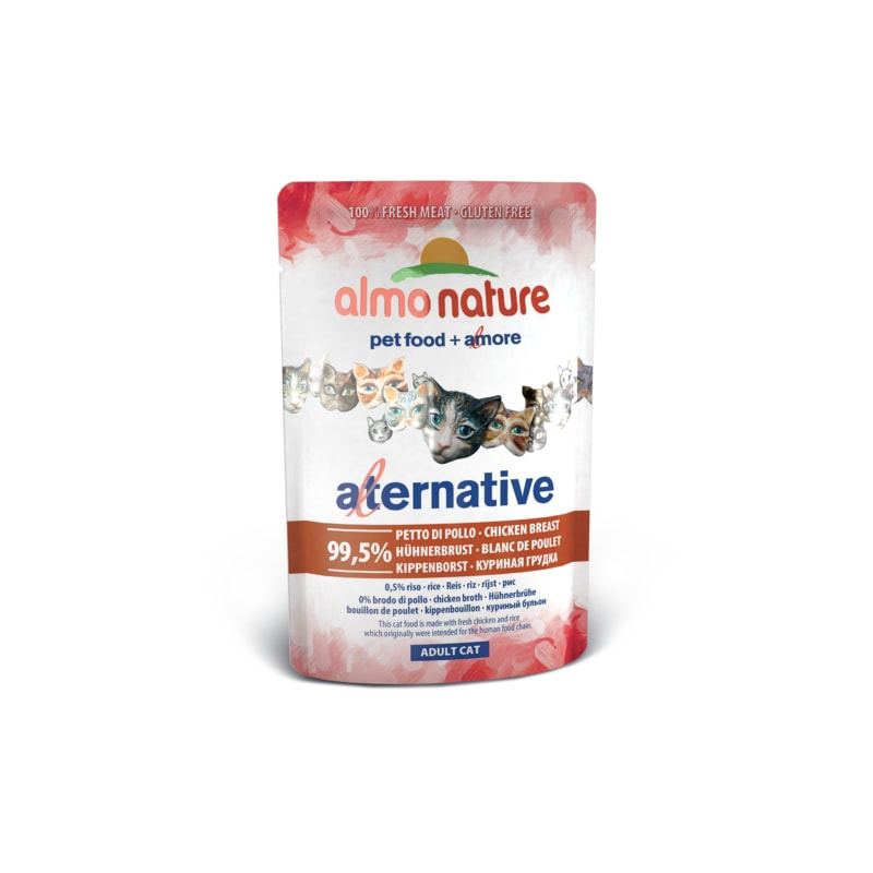 Almo Nature Alternative WET CAT - Kuřecí prsa 55g