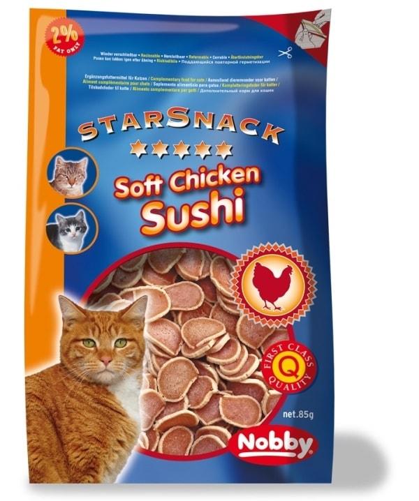 Nobby StarSnack Soft Chicken Sushi pamlsky pro kočku kuře+tuňák 85g