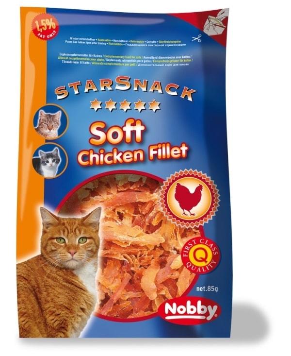 Nobby StarSnack Soft Chicken pamlsky pro kočku sušené kuřecí kousky 85g