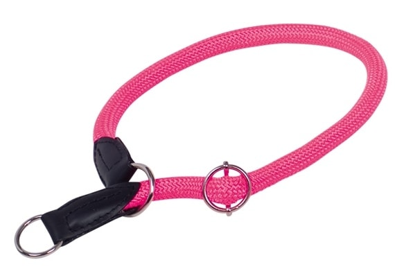 Nobby FUN Royal Neon kulatý polostahovací obojek růžový 50cm