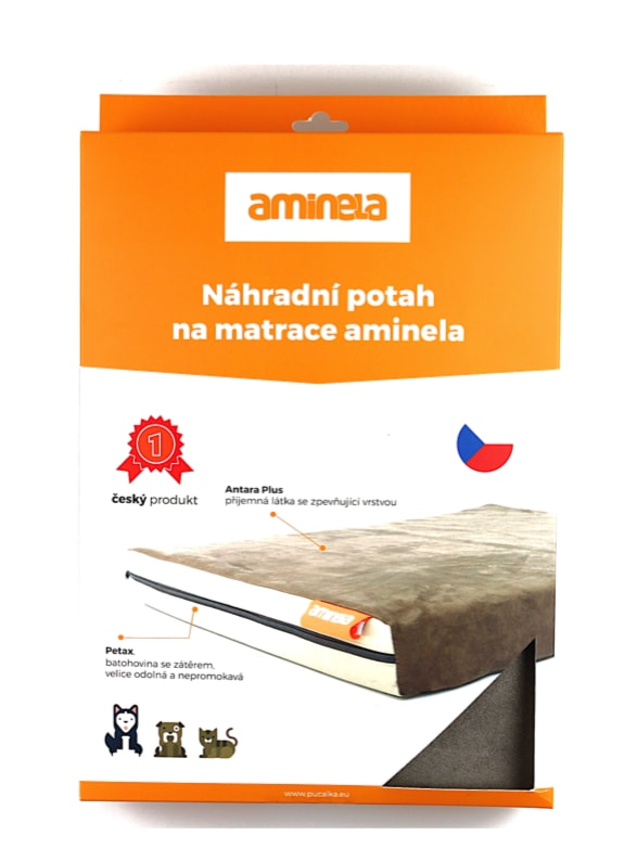 Potah na matraci Aminela - 120x80x10cm half and half šedá/oranžová