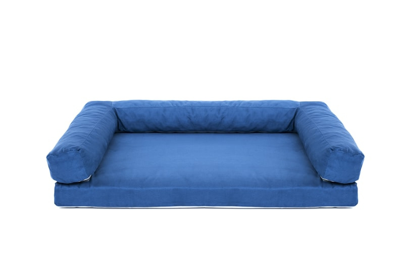 Aminela pelíšek s okrajem 100x70cm Half and Half modrá/světle šedá