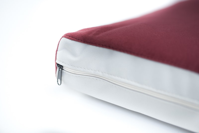 Matrace Aminela - 100x70x10cm Half and Half červená/světle šedá