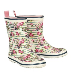 BUNDGAARD TWEEN MID RUBBER BOOT FLORAL STRIPE