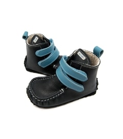 ZEAZOO YETI Black/Light Blue waterproof leather - sheepskin