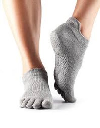 TOESOX LOW RISE GRIP Heather Grey