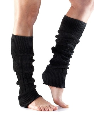TOESOX LEG WARMER Knee High Black