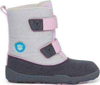 AFFENZAHN MINIMAL HIGHBOOT VEGAN Koala/Grey/Pink