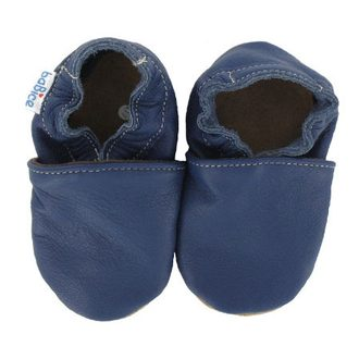 BABY LEATHER SLIPPERS BABICE Navy