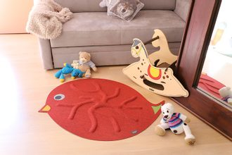 RootyRUG KIDS Birdie Red