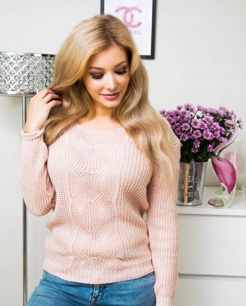 Dámský luxusní svetřík - UNI (S-L)  Pink