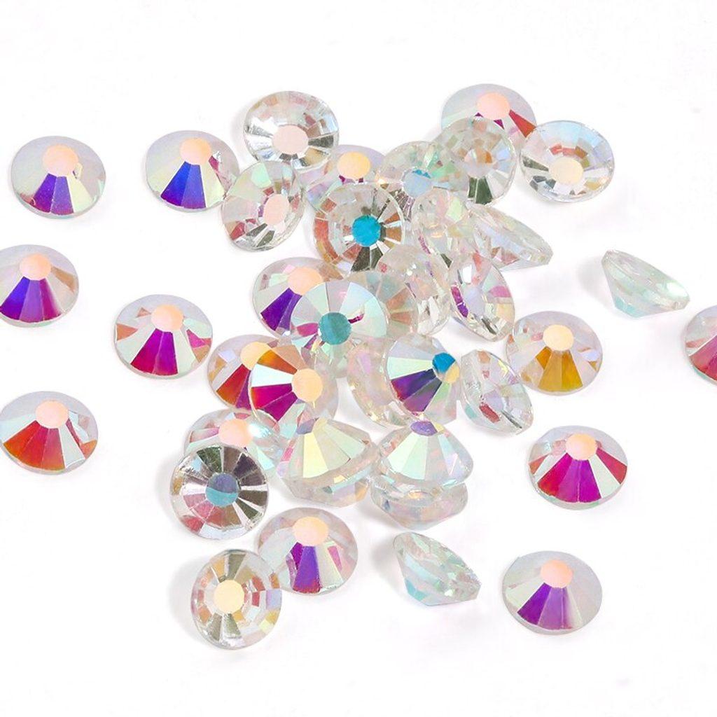 Kamínky na řasy Swarovski elements Crystal AB - 25,50ks - 25ks