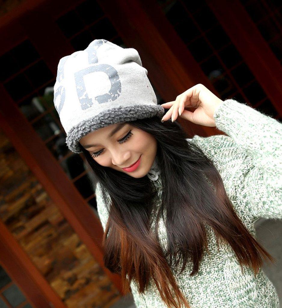 bavlněná HŘEJIVÁ čepice - Grey